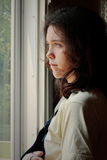 Jeune abus triste de femme images libres de droits