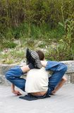 Jeune acrobate flexible Photo stock
