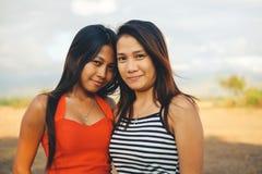 Jeune amitié asiatique heureuse de personnes Photographie stock libre de droits