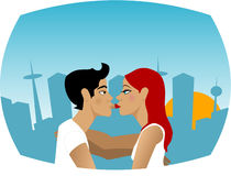 Jeune amour illustration stock