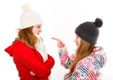 Jeune argumentation de soeurs Photo libre de droits