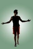 Jeune athlète masculin image libre de droits
