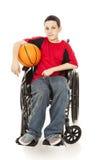 Jeune athlète - invalidité Image libre de droits