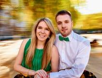 Jeune automne de couples Photo libre de droits