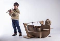 Jeune aviateur Image stock