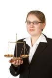 Jeune avocat féminin image libre de droits