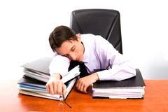 Jeune avocat fatigué image stock