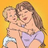 Jeune bébé de mère Image libre de droits