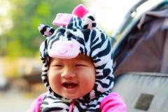 Jeune bébé heureux Photos stock