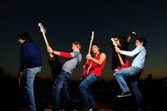 Jeune bande musicale Photos libres de droits