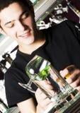 Jeune barman Images stock