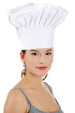 Jeune beau cuisinier féminin Image libre de droits