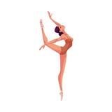 Jeune beau danseur dans les collants et des chaussures de ballet Photo libre de droits