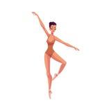 Jeune beau danseur dans les collants et des chaussures de ballet Photographie stock