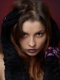 Jeune beau femme avec le bijou Photo libre de droits