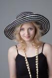 Jeune beau femme blond de sourire Images stock
