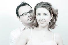 Jeune beau sourire heureux de couples Photo stock