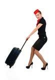 steward h tesse de l 39 air avec la valise illustration de vecteur image 33720446. Black Bedroom Furniture Sets. Home Design Ideas