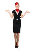 Jeune beau steward (hôtesse de l'air) Images stock