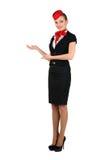 Jeune beau steward (hôtesse de l'air) Image stock