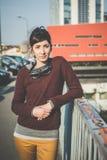 Jeune beau succès de femme de hippie Photo libre de droits