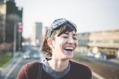 Jeune beau succès de femme de hippie photographie stock libre de droits