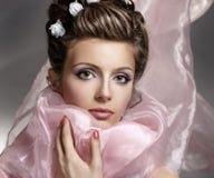 Jeune beau visage de femme Photos libres de droits