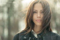 Jeune beau visage exceptionnel de femme - plan rapproché Photo libre de droits