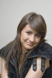 Jeune bel adolescent féminin, avec le long cheveu Photographie stock