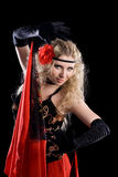 Jeune belle danse d'Espagnol de fille Photos stock
