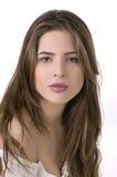 Jeune belle femelle avec le long cheveu Photo stock
