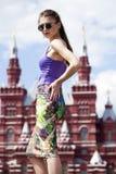 Jeune belle femme à Moscou Images stock