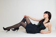 Jeune belle femme Photo stock