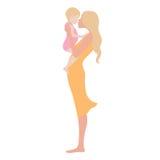 Jeune belle femme avec l'enfant Image libre de droits