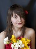Portrait d'une belle jeune femme Image libre de droits