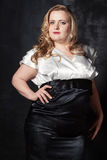 Jeune belle femme blonde grosse Photographie stock