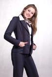 Jeune belle femme d'affaires Photo stock