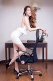 Jeune belle femme d'affaires Image stock