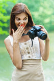 Jeune belle femme de verticale Photographie stock libre de droits