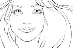 Jeune belle femme regardant l'appareil-photo Image libre de droits