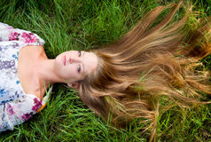 Jeune belle fille photo libre de droits
