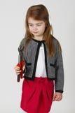 Jeune belle fille avec des outils. Photographie stock