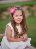 Jeune belle fille avec le long cheveu Photos stock