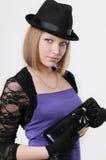Jeune belle fille de verticale Photo libre de droits