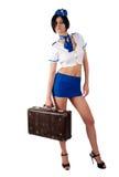Jeune belle hôtesse de l'air image stock