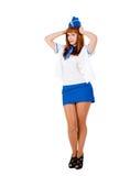 Jeune belle hôtesse de l'air Photos libres de droits