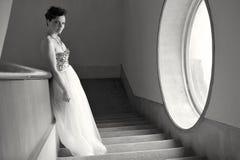 Jeune belle jeune mariée Photo stock