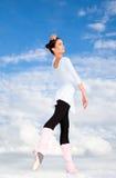 Jeune belle pose de ballerine Image stock