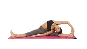 Jeune belle pose de yoga de fille Image libre de droits