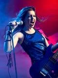 Jeune belle vedette du rock Photo stock